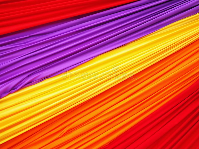 Full Frame Colorful Wavy Soft Fabric Background stock images