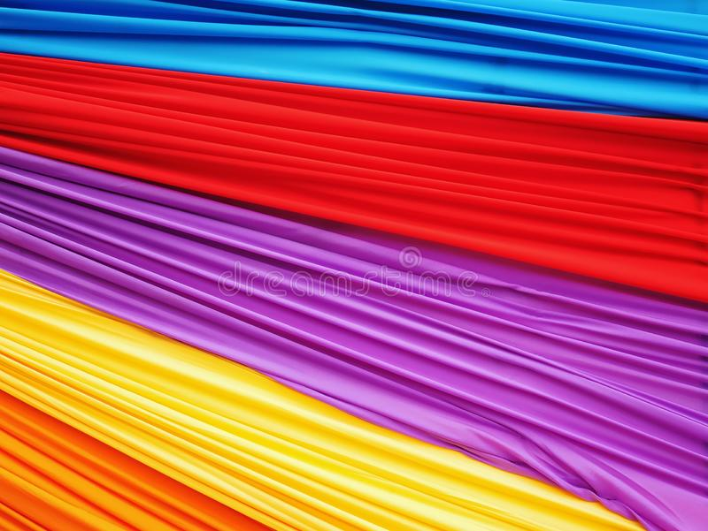 Full Frame Colorful Wavy Soft Fabric Background stock photos