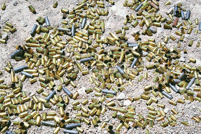 Different type and size of bullets royalty free stock photos