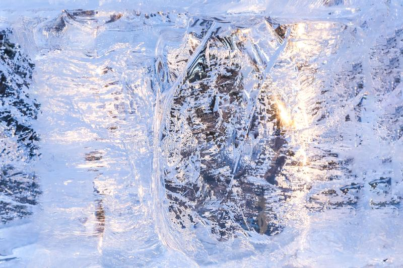 Full frame ice background. Backlit with the sun stock images