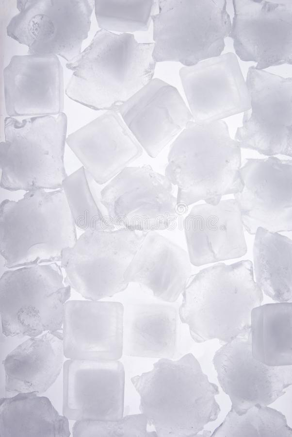 Ice cubes full frame royalty free stock photography