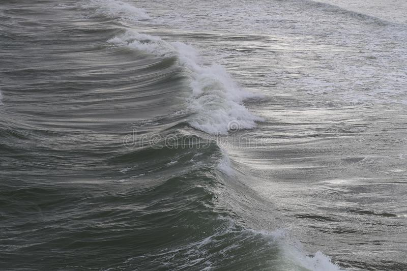 Full frame of ocean waves. Seen from a high angel view stock image