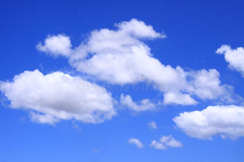 Full frame shot of blue sky and clouds, abstract background. In the tropical island of Mauritius,Africa royalty free stock image