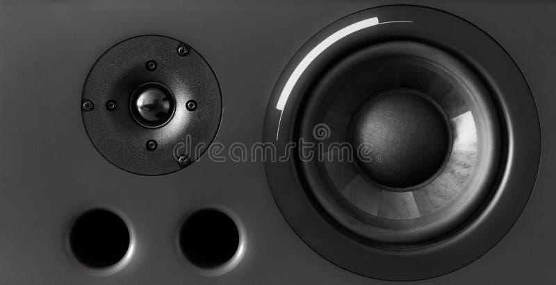 Full Frame Speaker. Horizontal view royalty free stock photo