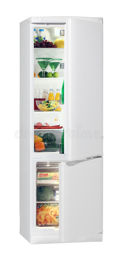 Download Full Of Fresh Food Refrigerator. Stock Image - Image: 19663935