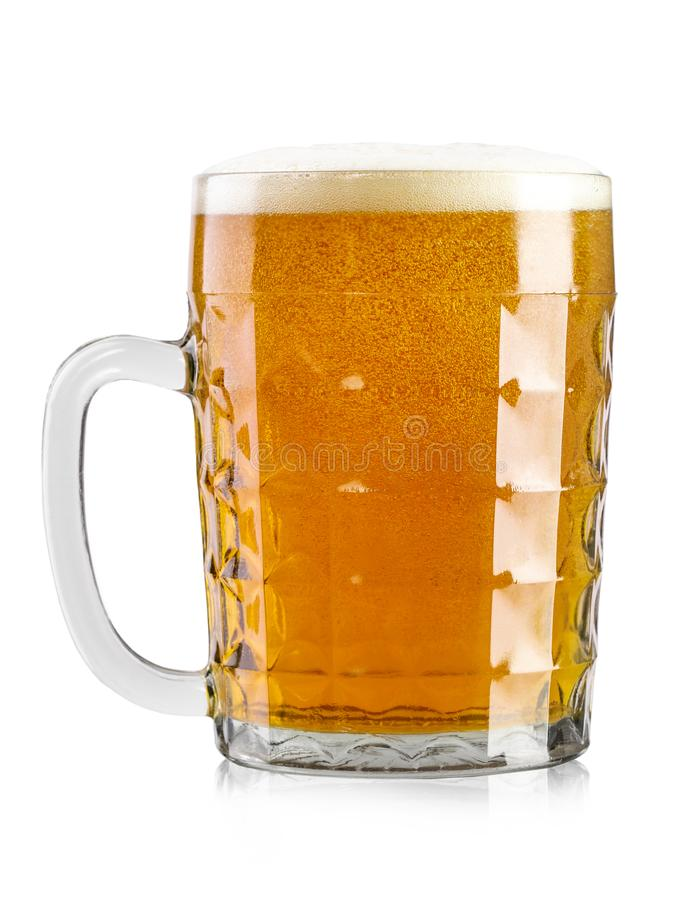 Full glass of beer royalty free stock photos