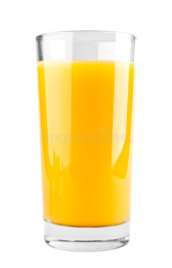 Full glass of orange juice stock photos