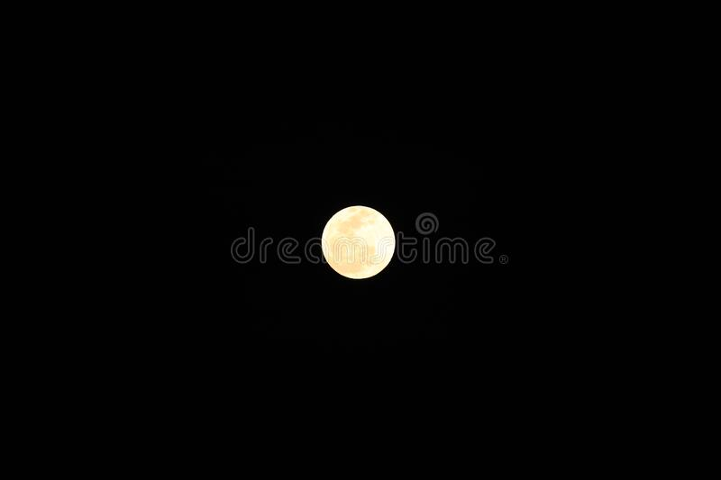 Full glowing moon in the sky royalty free stock photography