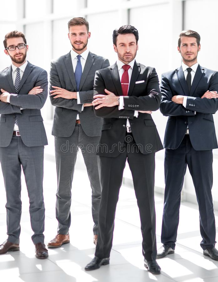 In full growth.a group of confident business people royalty free stock photography
