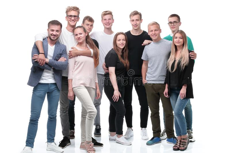 In full growth. a group of confident young people stock photo