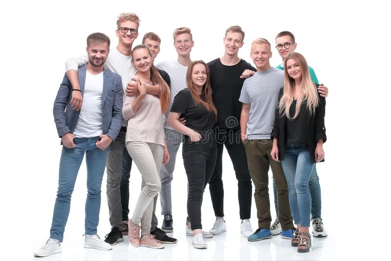 In full growth. a group of confident young people royalty free stock photography