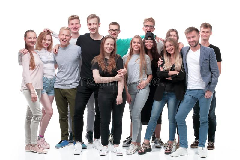 In full growth. a group of confident young people royalty free stock photo