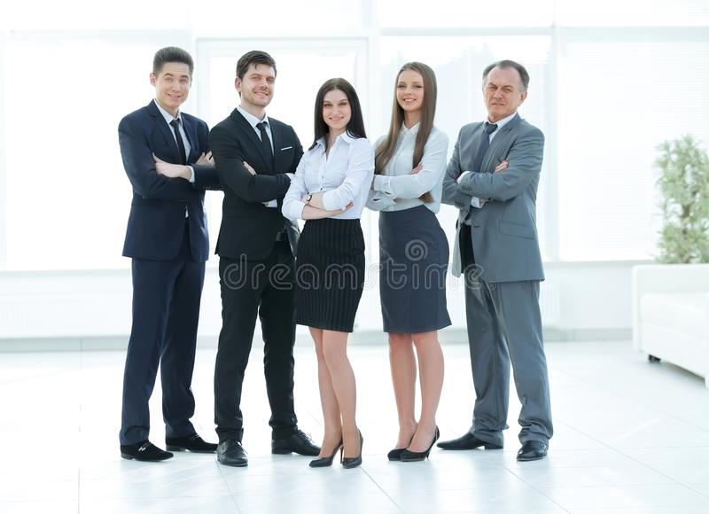 Full growth.a group of successful business people stock images