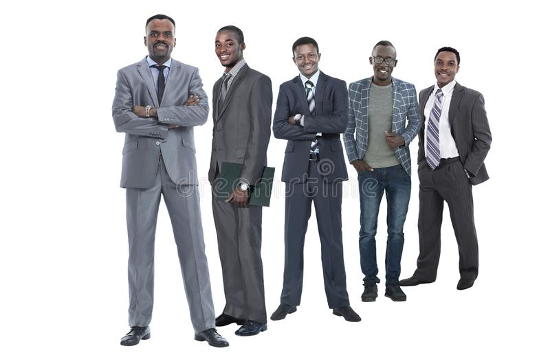 In full growth.international group of successful business people stock photos