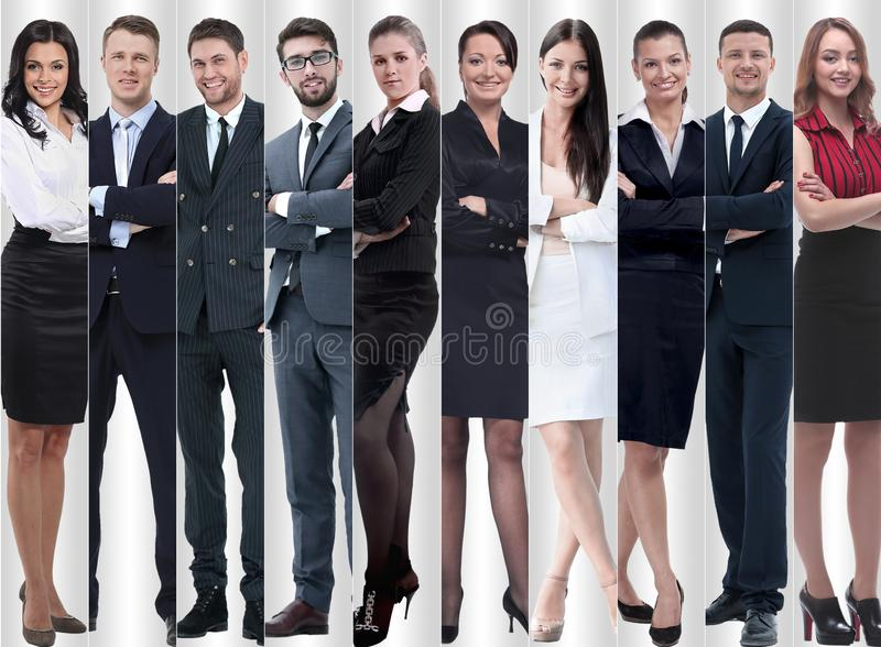 In full growth. modern successful business people. stock photos