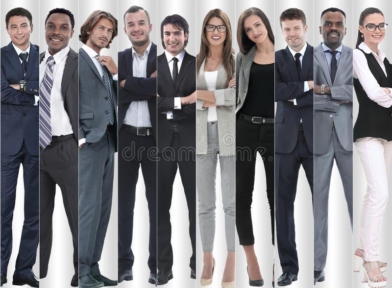 In full growth. modern successful business people. In full growth.modern successful business people. photo collage stock image