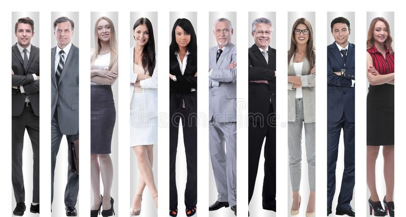 In full growth. modern successful business people. stock photography