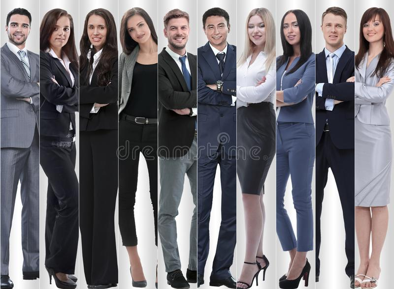 In full growth. modern successful business people. stock photo