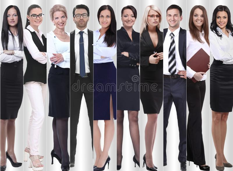 In full growth. modern successful business people. royalty free stock photos