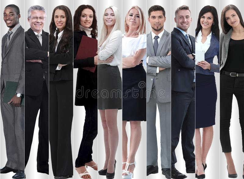In full growth. modern successful business people. stock images
