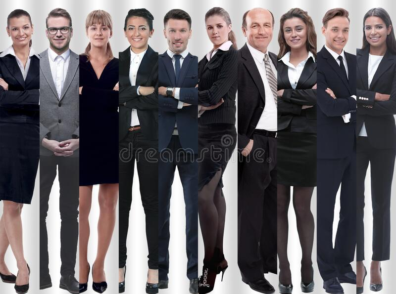 In full growth. modern successful business people. In full growth.modern successful business people. photo collage royalty free stock photo