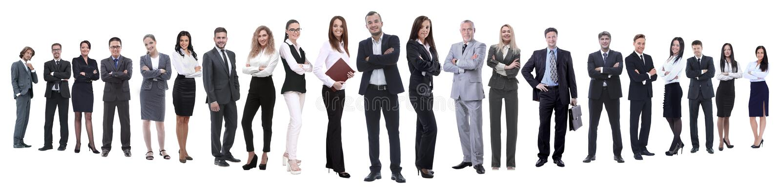 In full growth.professional business team isolated on white stock image