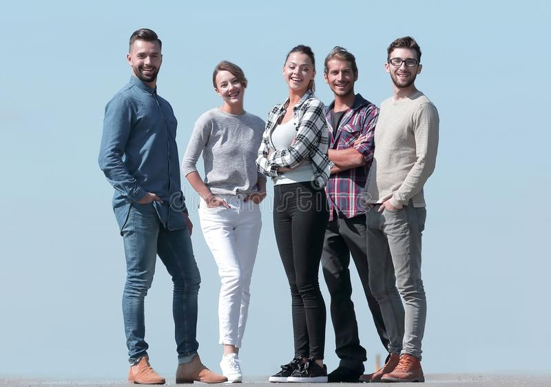 In full growth.a team of creative young people. Photo with copy space royalty free stock image