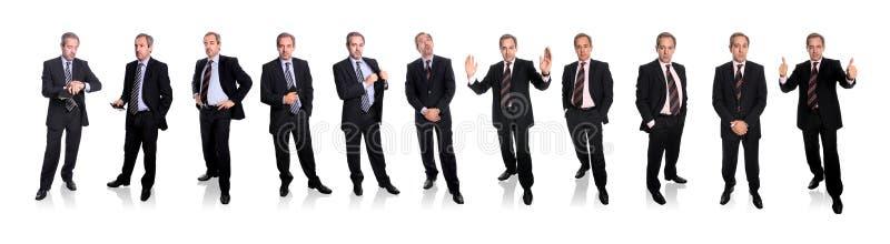 full grupp för huvuddelaffärsmän arkivfoton