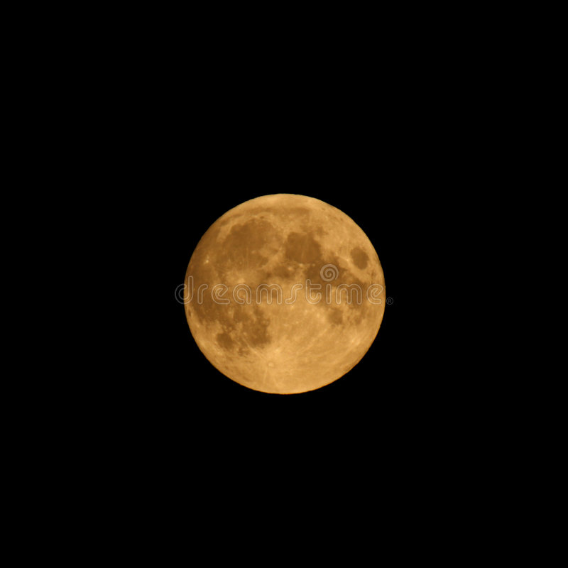 Full Harvest Moon stock photography
