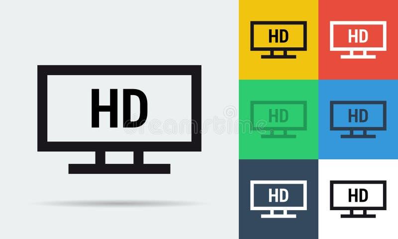 Full HD monitor icon royalty free illustration