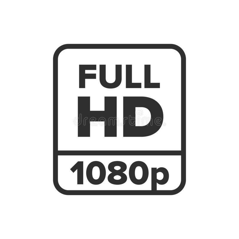 Full Hd 1080p Symbol Stock Vector Illustration Of Quality 144111603