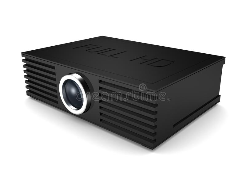 Full HD projector. cinema movie entertainment. 3d vector illustration
