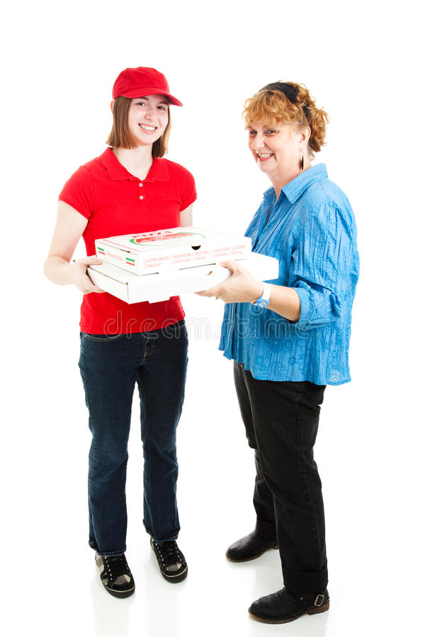 Full huvuddel för Pizzaleverans royaltyfri fotografi