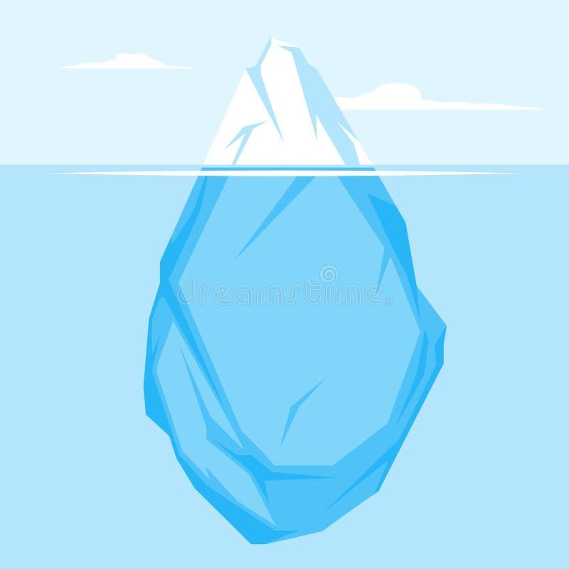 Full Iceberg flat royalty free illustration