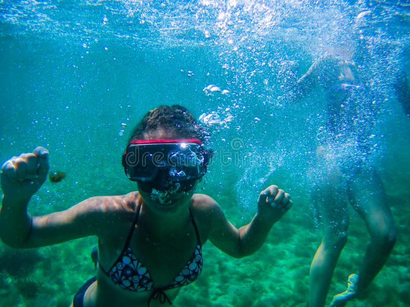 Full immersion in the sea of Sardinia Island stock photos