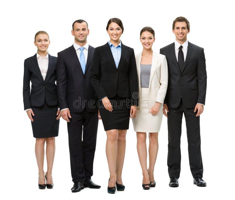 Full längd av gruppen av chefer royaltyfri bild