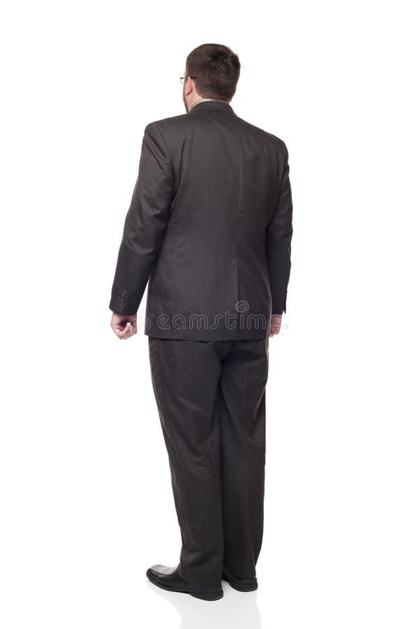 full längd för away affärsman som ser bakre sikt royaltyfri fotografi