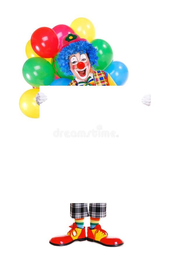 Full längd för födelsedagclown royaltyfri bild