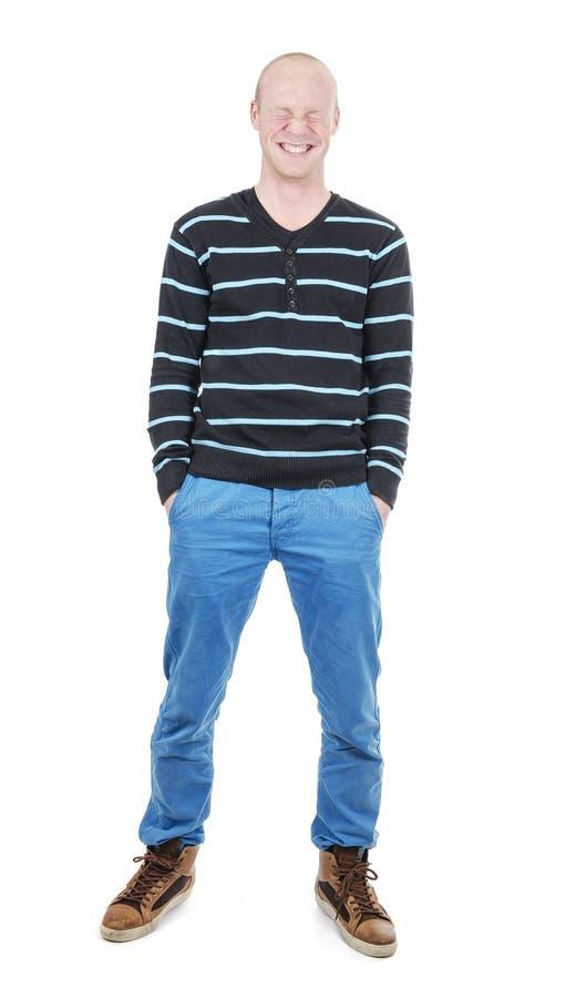 Full längd för ung man arkivfoto