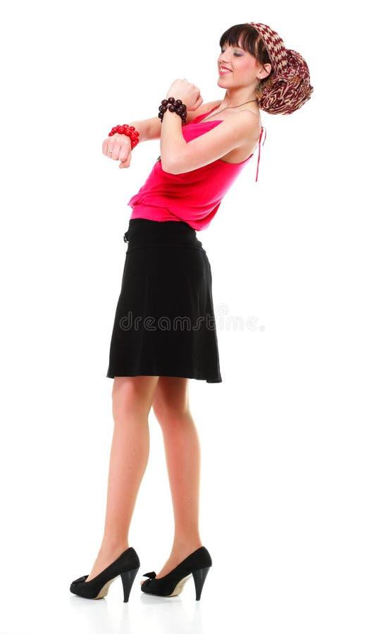 Download Full Längdkvinna I En Isolerad Turban Arkivfoto - Bild av stående, posera: 27275080