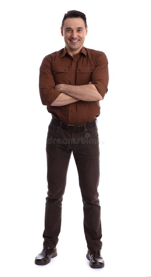 Full längdstående av den stiliga unga mannen fotografering för bildbyråer