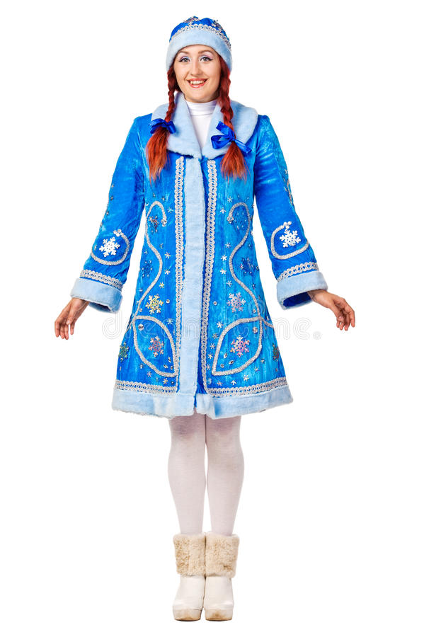 Download Full Lenght Portrait Of A Smiling Snow Maiden. Stock Image - Image: 26285671