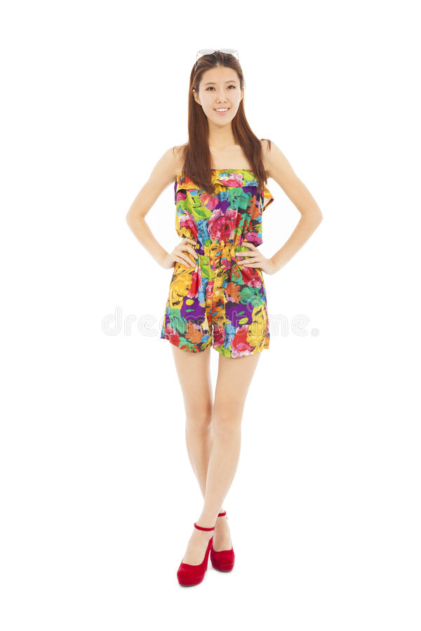 Download Full Length Of Beautiful Female Standing In Vogue Dressing Stock Image - Image: 40442033