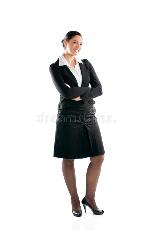 Full length business woman royalty free stock photo