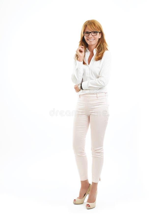 Full length business woman portrait stock photo
