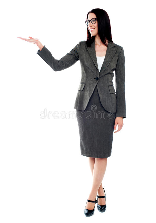 Download Full Length Of Businesswoman Showing Copyspace Stock Image - Image: 25160049