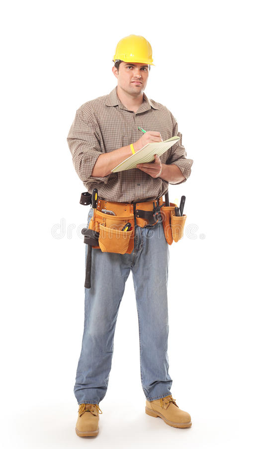 Free Full Length Construction Worker Royalty Free Stock Photo - 15596795