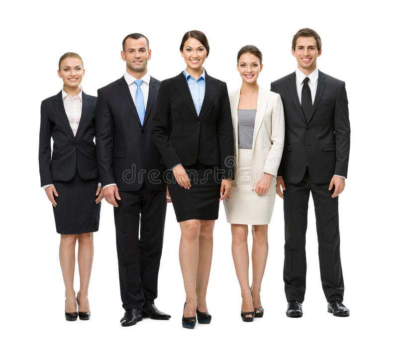 Full length of group of managers royalty free stock image