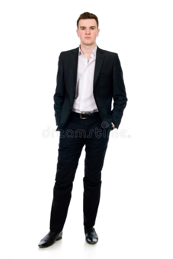 Full length of a handsome business man standing royalty free stock photo