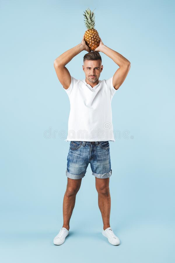 Full length of a handsome young man royalty free stock photography